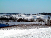 Distant White Hill
